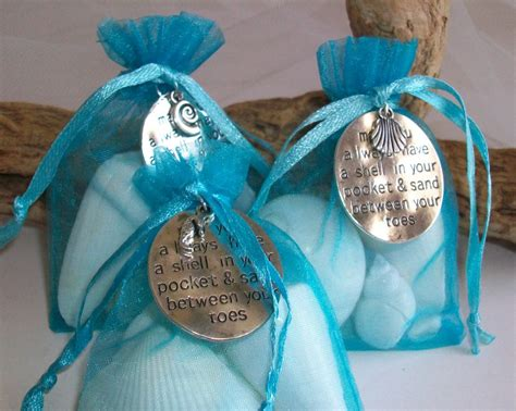 beach themed shell gift bag favor w personalized or well