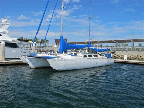 Trimaran Sailboat by 1997 Cross 55ft Norman Cross Trimaran Sail Boat For Sale