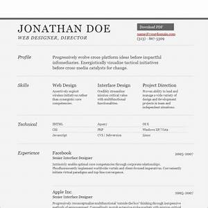 Sample Resume Template Free website templates in css