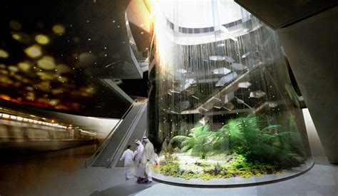snohetta designs  urban oasis  riyadh metro station