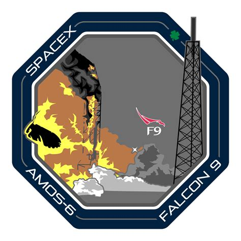 [Leaked] Amos-6 Mission Patch : spacex