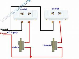 How To Control 2 Sockets By 2 Switches   U00ab Electrical And Electronic Free Learning Tutorials