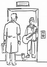 Elevator Coloring sketch template