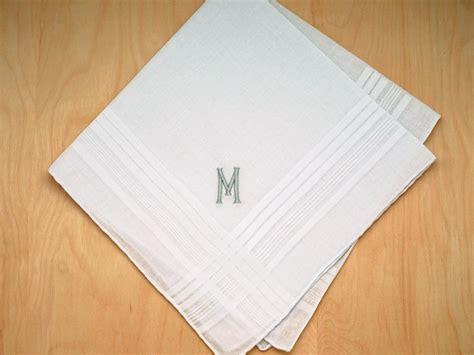 image gallery monogrammed handkerchiefs mens monogrammed wedding hankie w 1 initial font e