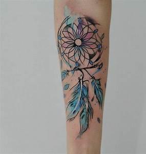 Attrape Reve Tatoo : 1001 id es de tatouage attrape r ve symbolique ~ Nature-et-papiers.com Idées de Décoration