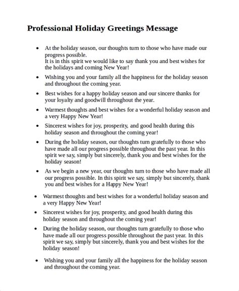christmas sms for professional sle greeting message 7 documents in pdf word