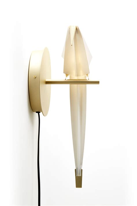 wall light with plug perch light small by moooi white
