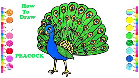 draw  peacock easy peacock drawing  coloring