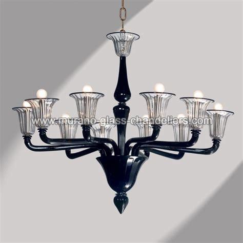 quot coco quot 10 lights black murano glass chandelier murano