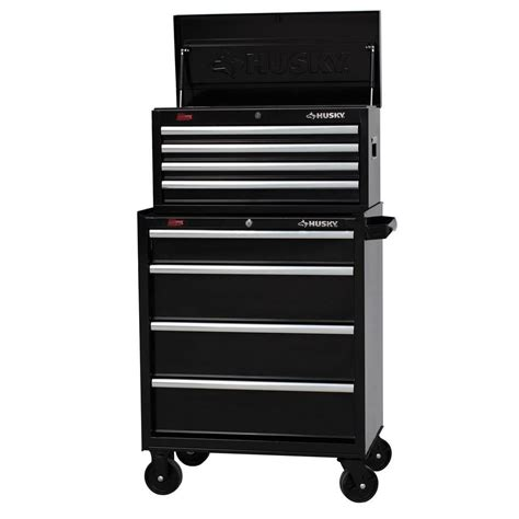 husky tool storage cabinets husky 27 in w 8 drawer tool chest and cabinet set h4ch1