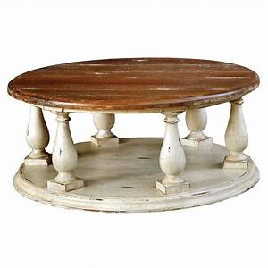 Formidable distressed coffee table distressed white for Distressed white round coffee table