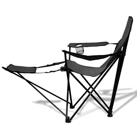 chaise avec repose pied la boutique en ligne chaise pliable de cing 2 pcs avec repose pied gris vidaxl fr