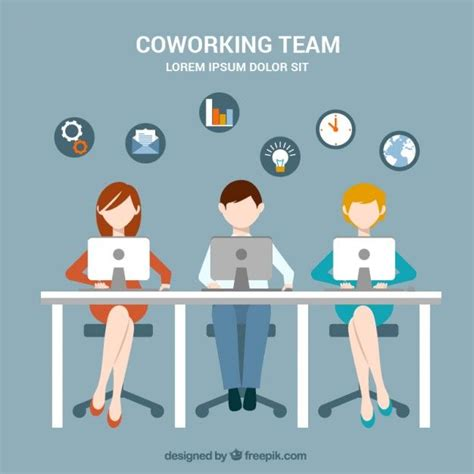 coworking templates ppt coworking team free vector aia finance planing seo
