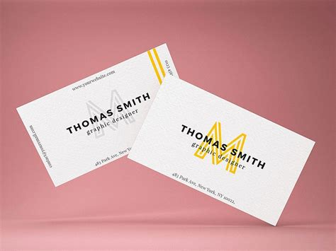 Realistic Business Card Mock-up Template