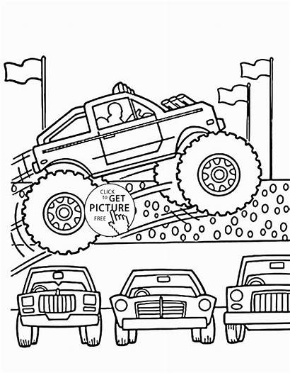 Monster Coloring Truck Pages Max Printable Getcolorings