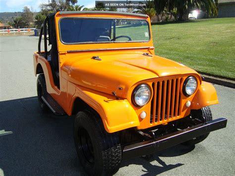 sunset orange jeep classic 1965 willys military jeep cj5 4x4 sunset orange