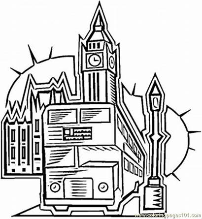 London Coloring Pages Britain Flag England Taxi