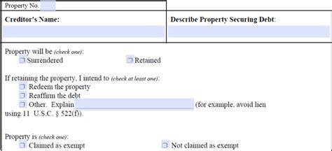 secured property surrendering redemption