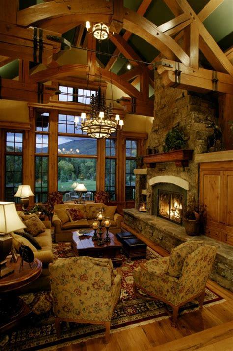 warm rustic family room designs   winter