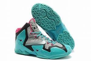 Nike Lebron James 11 Grey Black Light Blue Shoes - $82.00