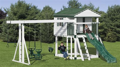 Amish Sheds Albany Ny by Vinyl Swing Sets New York Swingsets Maintenance Free