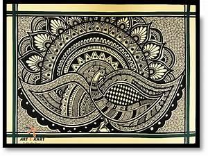 Madhubani PaintingMithila Painting Set Of 3 Kalaakart