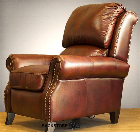 barcalounger churchill ii recliner chair leather