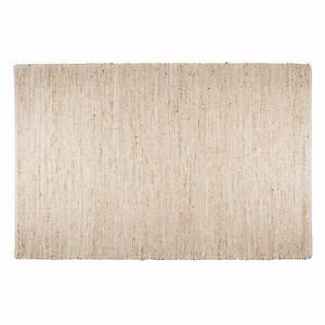Tapis En Coton : tapis en coton et jute beige 200x300cm barcelone maisons ~ Nature-et-papiers.com Idées de Décoration