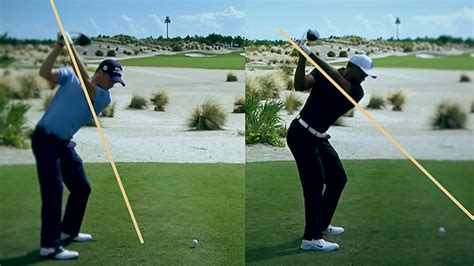 tiger woods swing tiger woods vs justin how their driver swings