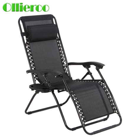 ollieroo black zero gravity lounge chair patio pool