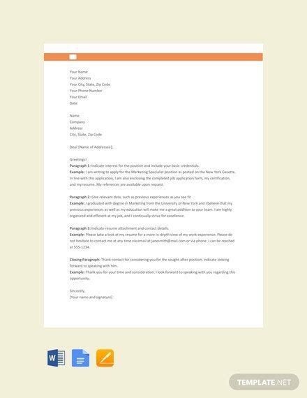 FREE Application Letter Format Template - Word (DOC ...