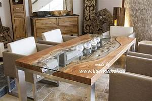 Esstisch Metallgestell Holzplatte : esstisch elements aus massivholz edelstahl und glas der tischonkel ~ Markanthonyermac.com Haus und Dekorationen