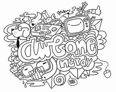 Doodle Coloring Pages Adults Printable Bobsmade Teens