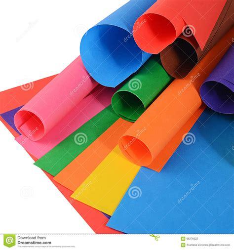set   color paper close  stock photo image
