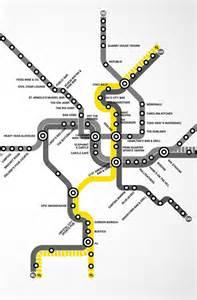 Yellow Line Washington Metro Map DC