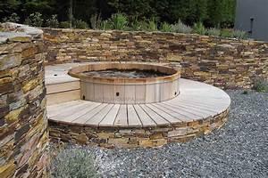 Jacuzzi En Bois : spa en bois bain nordique jacuzzi en bois hot tub spas ~ Nature-et-papiers.com Idées de Décoration