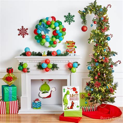 grinch christmas decorating  party ideas party city
