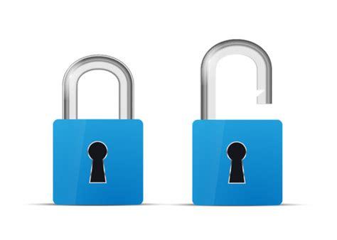 Blue Lock And Unlock Icon » Designtube - Creative Design ...
