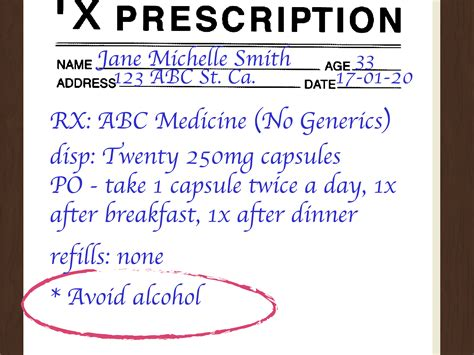 Prescription Pharmacy by How To Write A Prescription 15 Steps With Pictures