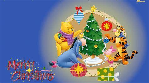merry christmas winnie  pooh decorating  christmas