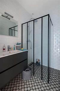 les 15 meilleures images du tableau installer une verriere With porte de douche coulissante avec carrelage salle de bain metro parisien