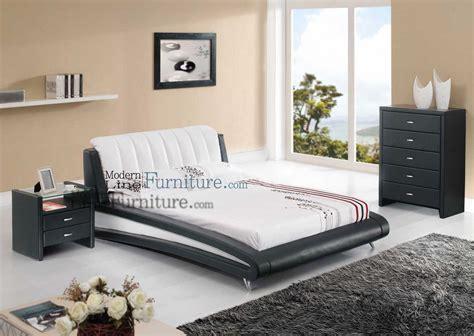 sleek modern full size bedroom set  home