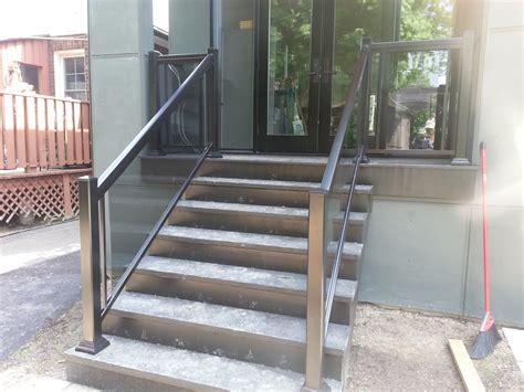 36 glass railing granite steps aluminum railings