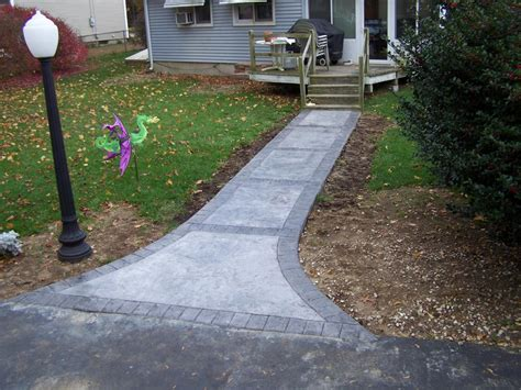 stained concrete walkway gs flatwork llc decorative sted concrete walkways