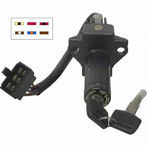 Aw Motorcycle Parts  Ignition Switch Honda Vf750s 6 Wires