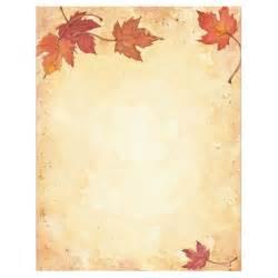 fall leaves border thanksgiving fall autumn stationery computer printer paper ebay