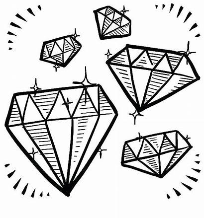 Coloring Diamond Pages Gem Minecraft Shape Drawing