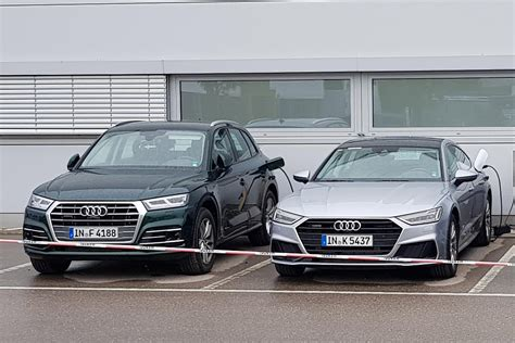 audi q5 maße new audi q5 e and a7 e hybrids spied on charge