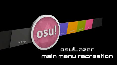 [c4d] Osu!lazer Main Menu Recreation