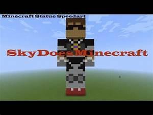 Minecraft Statue Speedart - SkyDoesMinecraft - YouTube
